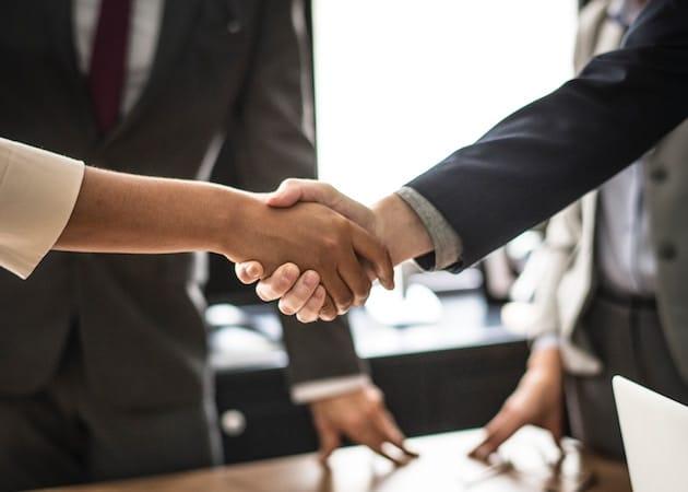 Mortgage Broker Shaking Hands